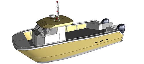 conception catamaran RIDER CS31