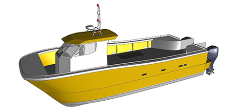 conception catamaran RIDER CS33